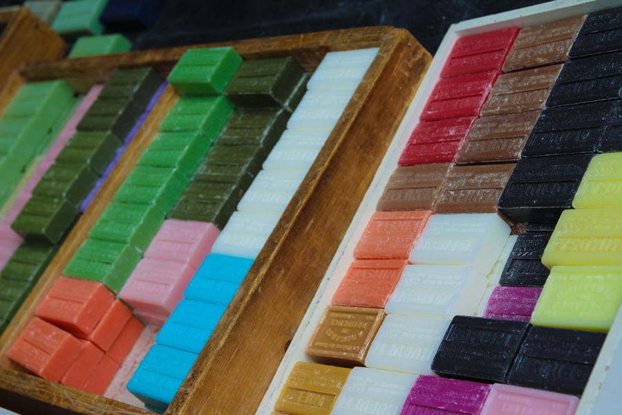 Zeepjes in allerlei kleuren